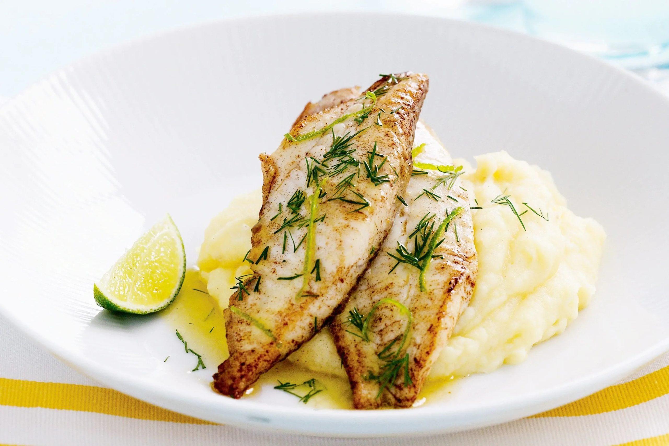Pan-Fried Fish with Lemon Mashed Potato