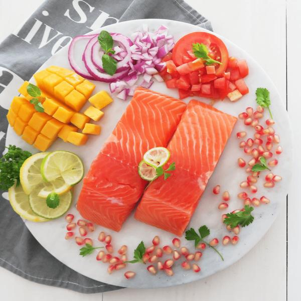 Caught Online Fresh Norwegian Salmon Skin On Portions (200g per portion)