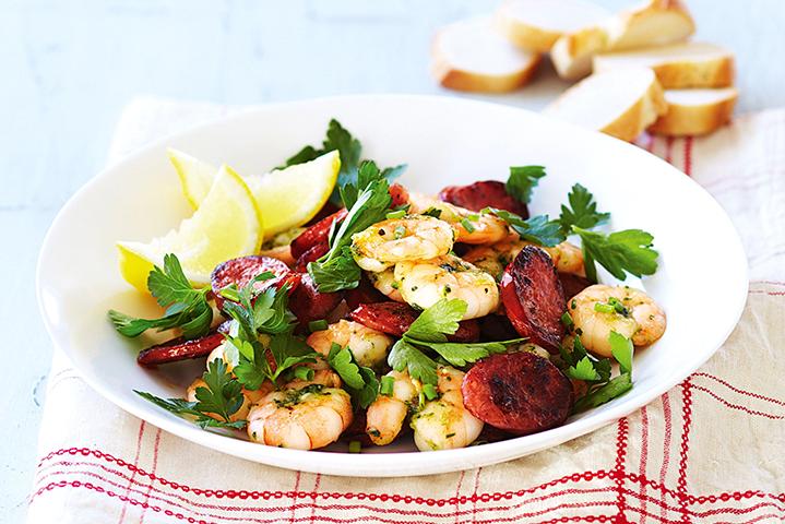 Garlic & Chorizo Prawns