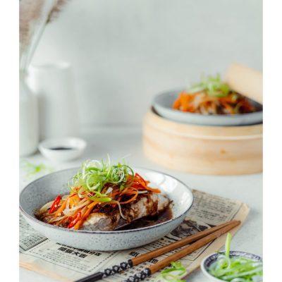 Vietnamese steamed fish!
